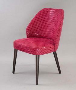 BS476A - Chaise, Chaise rembourrée avec dossier rembourré