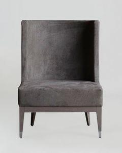 BS601A - Chaise, Chaise rembourrée en éco-cuir Nabuk