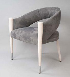 BS604A - Chaise, Chaise rembourrée en nubuck