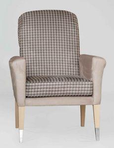 BS606A - Chaise, Chaise rembourrée avec accoudoirs