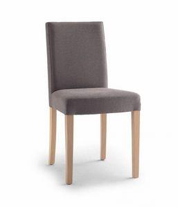 C03B, Chaise rembourrée, pieds en bois