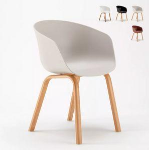 Chaise avec Coussin Scandinave Tulip NORDIQUE Plus Salle à manger et Bar SNP635F, Chaise design scandinave