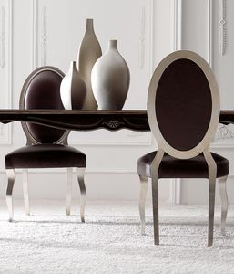 Chantal Art. 674 - 645, Chaise de salle à manger avec dossier ovale