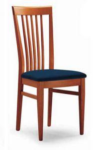Cipria, Chaise avec dossier à lattes verticales