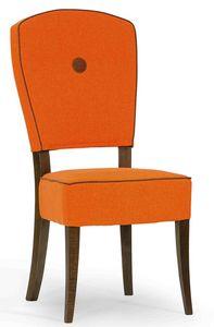 Corella, Chaise rembourrée avec cadre en bois