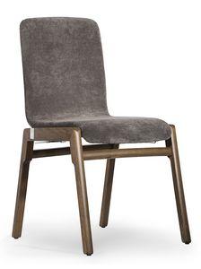 Cornelia, Chaise avec coque rembourrée