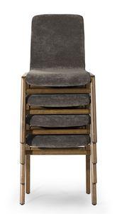 Cornelia stackable, Chaise empilable, à usage contractuel
