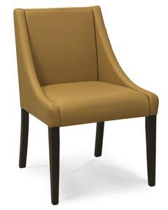 CORSICA S, Chaise rembourrée avec accoudoirs bas