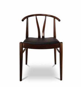 DUBLINO, Chaise en bois avec assise rembourrée