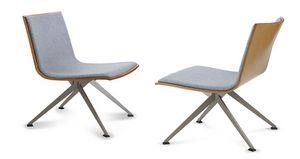 EXEN 244 Y, Chaise en bois partiellement rembourrée