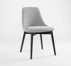 FIRENZE, Chaise moderne aux formes douces
