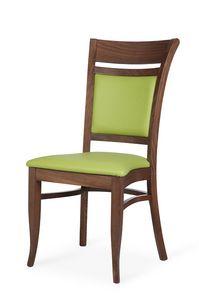 Gloria I empilable, Chaise empilable, avec un design classique