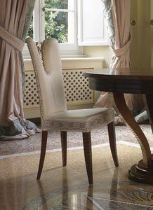 Grand Etoile Art. GE042/AR, Chaise de salle à manger avec une décoration sculptée élégante
