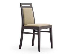 Guenda-S1, Chaises de banquet, en bois, rembourré