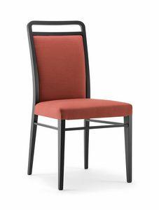 HAVANA SIDE CHAIR 020 S, Chaise en bois massif, rembourr�e