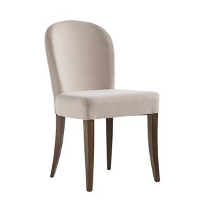 ISLANDA S, Chaise avec dossier de forme arrondie