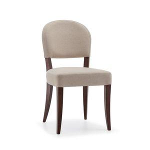 ISLANDA S1, Chaise rembourrée avec pieds en bois