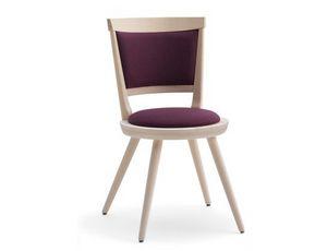 Isolda-S2, Chaise rembourrée avec siège rond