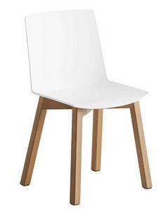 Jubel BL, Chaise avec structure en bois de hêtre