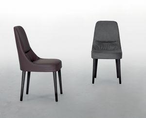 JULIETTE, Chaise en cuir, assise souple et confortable