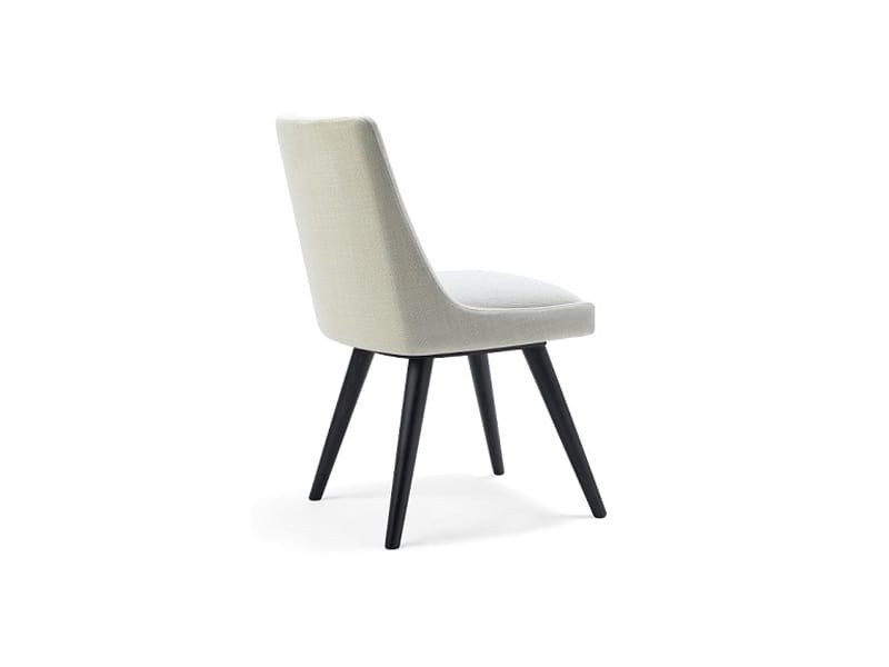 Kara-S, Elégante chaise rembourrée pour les chambres d'hôtel et la salle à manger