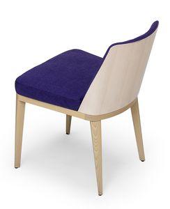 Kate wood, Chaise avec le dos en bois exposé