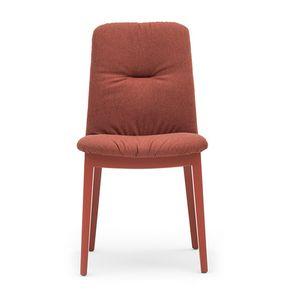 Light 03212, Chaise en bois, assise et dossier rembourrés