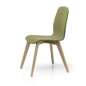 Milù Wood Soft, Chaise en bois, amovible