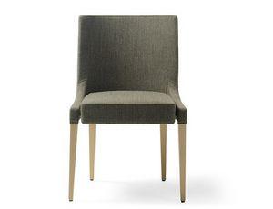 Monna-S, Chaise rembourrée en bois à usage contractuel