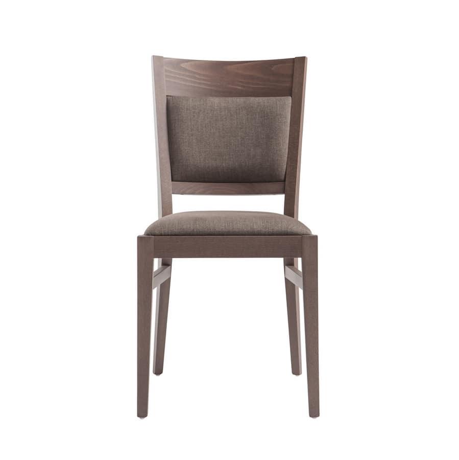MP472B, Chaise en bois rembourrée