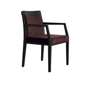 MP49EP, Chaise rembourrée confortable, avec base en bois