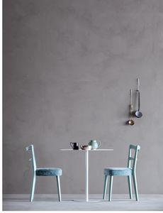 NORVEGIA, Chaise avec dossier à lattes horizontales