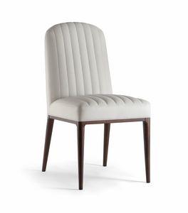 PARIGI SIDE CHAIR 038 S, Chaise avec coutures apparentes