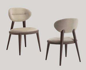 Ramon chaise, Chaise rembourrée avec des jambes coniques