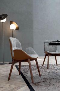 SORRENTO ÉSPRIT, Chaise avec structure en bois sans rainage