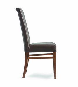 Wiky/RI, Chaise à manger avec dossier haut