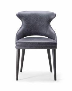 WINGS SIDE CHAIR 076 S, Chaise au design épuré et contemporain