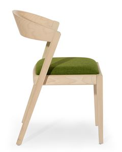 Zanna, Chaise en bois avec dossier arrondi
