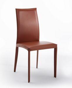 Aisha, Chaise en cuir avec des trous décoratifs