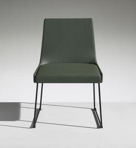 FLEET 1, Chaise rembourrée avec piètement luge