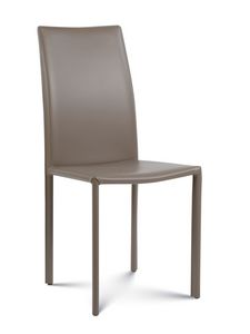 Giada medium, Chaise moderne recouverte de cuir