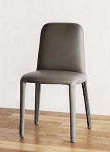 Linda, Chaise entièrement recouverte de cuir écologique