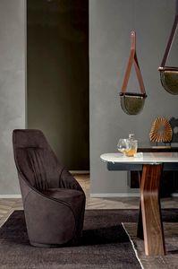MAMA  chaise, Chaise entièrement recouverte de cuir ou de simili cuir