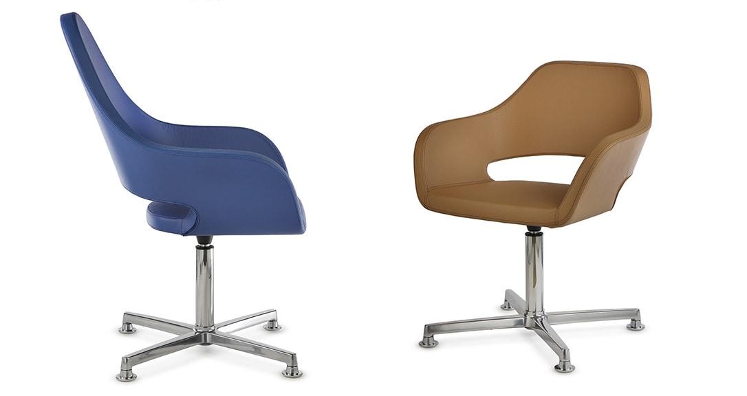 NUBIA 2305, Chaise de bureau à roulettes