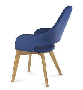 NUBIA 2308, Chaise en cuir avec dossier haut