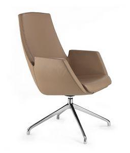 NUBIA 2916, Chaise de bureau en cuir