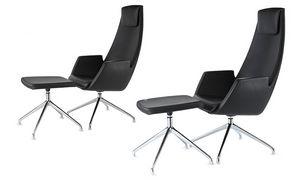 NUBIA 2926, Chaise en cuir avec dossier haut