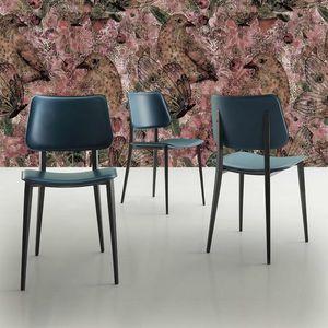 s37 sandy, Chaise en métal avec assise en cuir