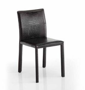 Sissi, Chaise rembourrée en cuir