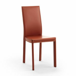Valentina, Chaise en cuir moderne